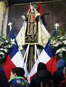 au sanctuaire de Maipu, la Vierge du Carmel, sainte patronne du Chili