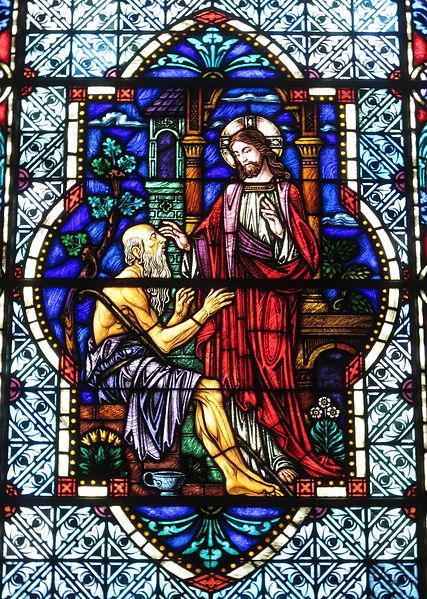 Cathédrale Saint Patrick (Charlotte Caroline du Nord - Le Christ guérit un homme aveugle