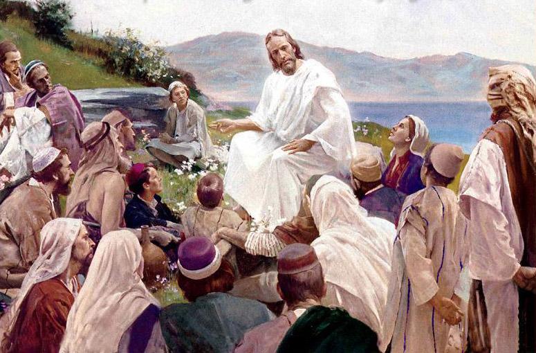 Jésus discutant avec ses disciples