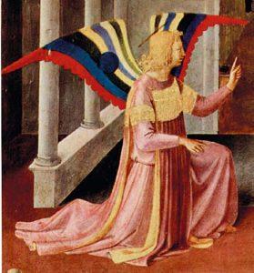 Annonciation Fra Angelico (1387-1455) Tempera sur bois (détail) - Florence