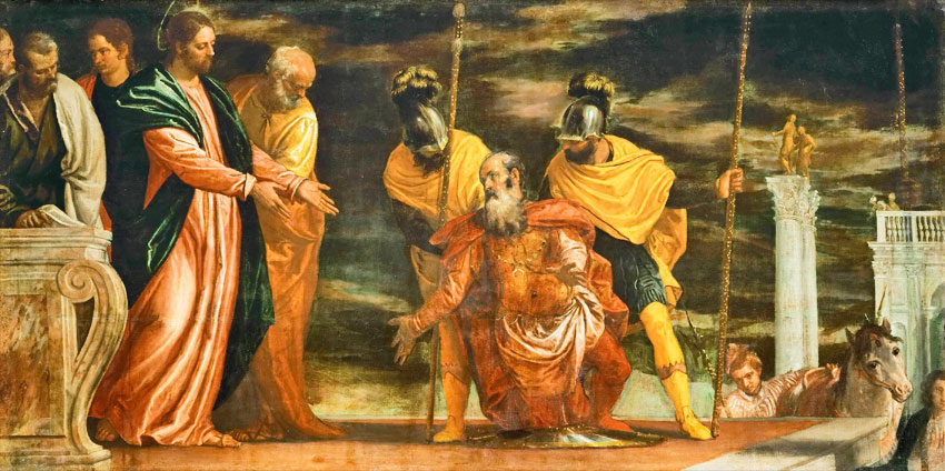 Paul Véronèse - Le centurion de Capharnaüm demande à Jésus de guérir son fils