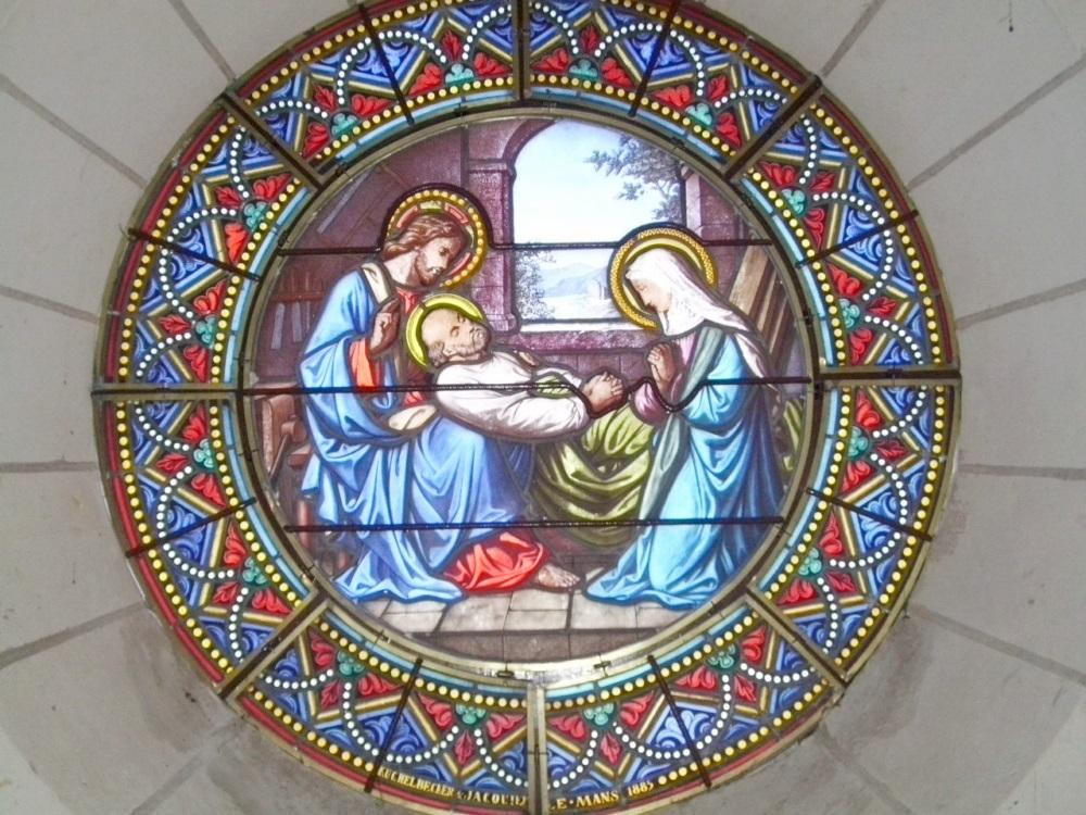 la mort de Saint  Joseph - église de la Jarrie - 86 Vouneuil sous Biard France