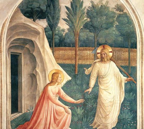 Jésus ressuscité apparaît à Marie de Magdala - Fra Angelico