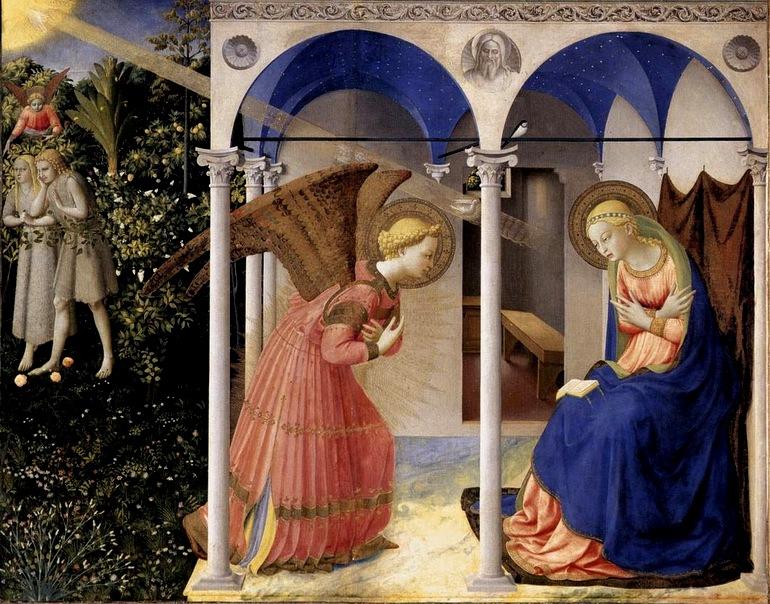 Fra Angelico - l'Annonciation et le mystère de la Rédemption (Adam et Eve) - musée du Prado