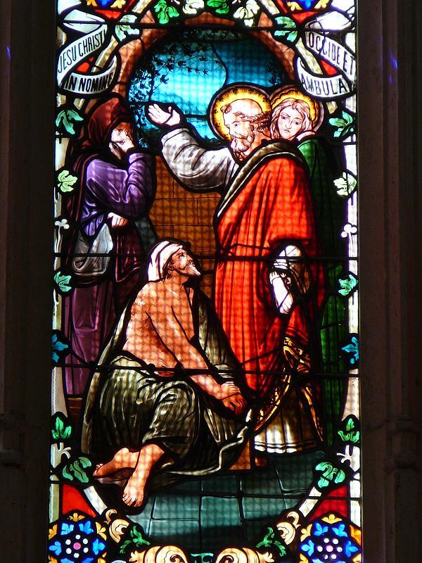 Guérison par Pierre d'un paralytique - église Saint Pierre - Bordeaux