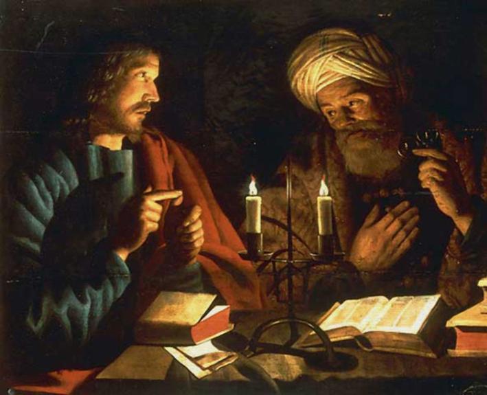 Rencontre de nuit entre Jésus et Nicodème - Crijn Hendricksz. Volmarijn, première moitié du XVIIe siècle