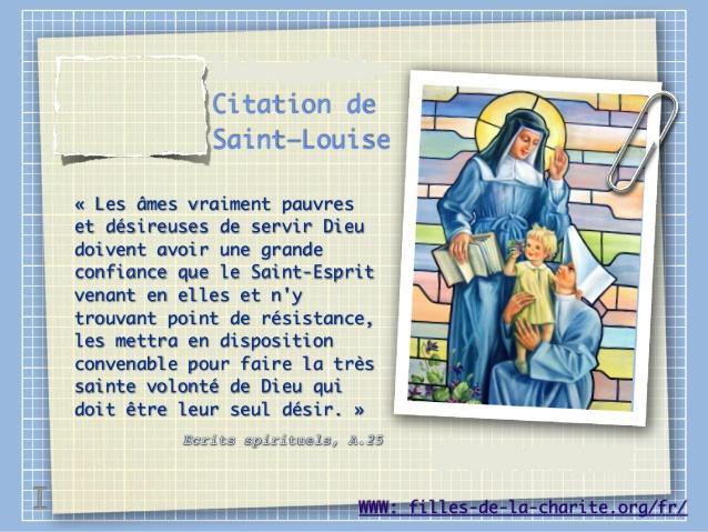 Citation de Sainte Louise de Marillac sur l'Esprit Saint