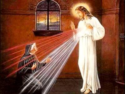 Apparition de Jésus à sœur Faustine
