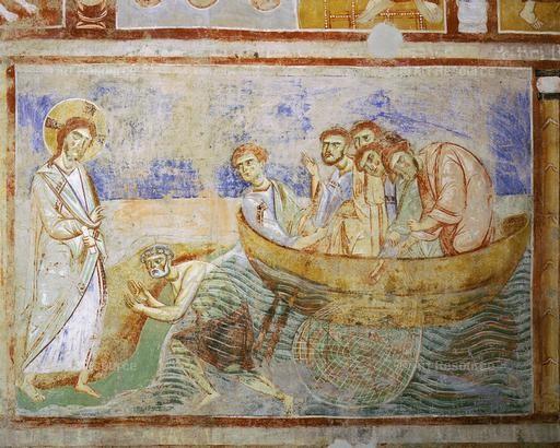 la pèche miraculeuse - mosaïque de la cathédrale de Monreale -Sicile