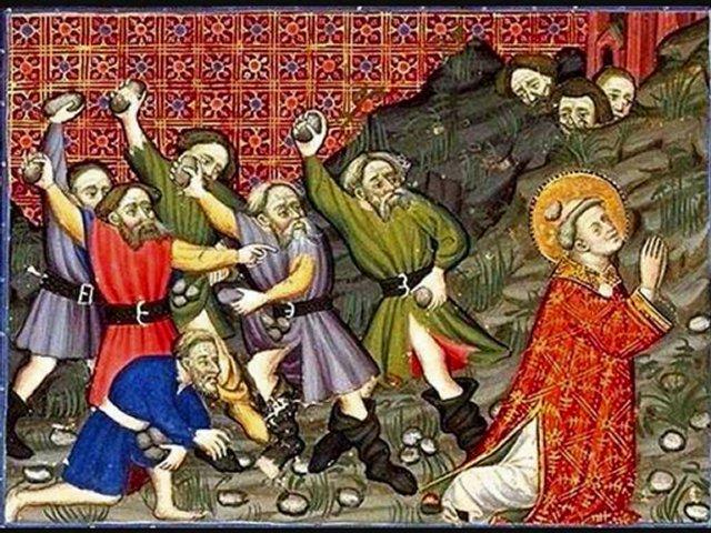 le martyre de Saint Étienne - BNF