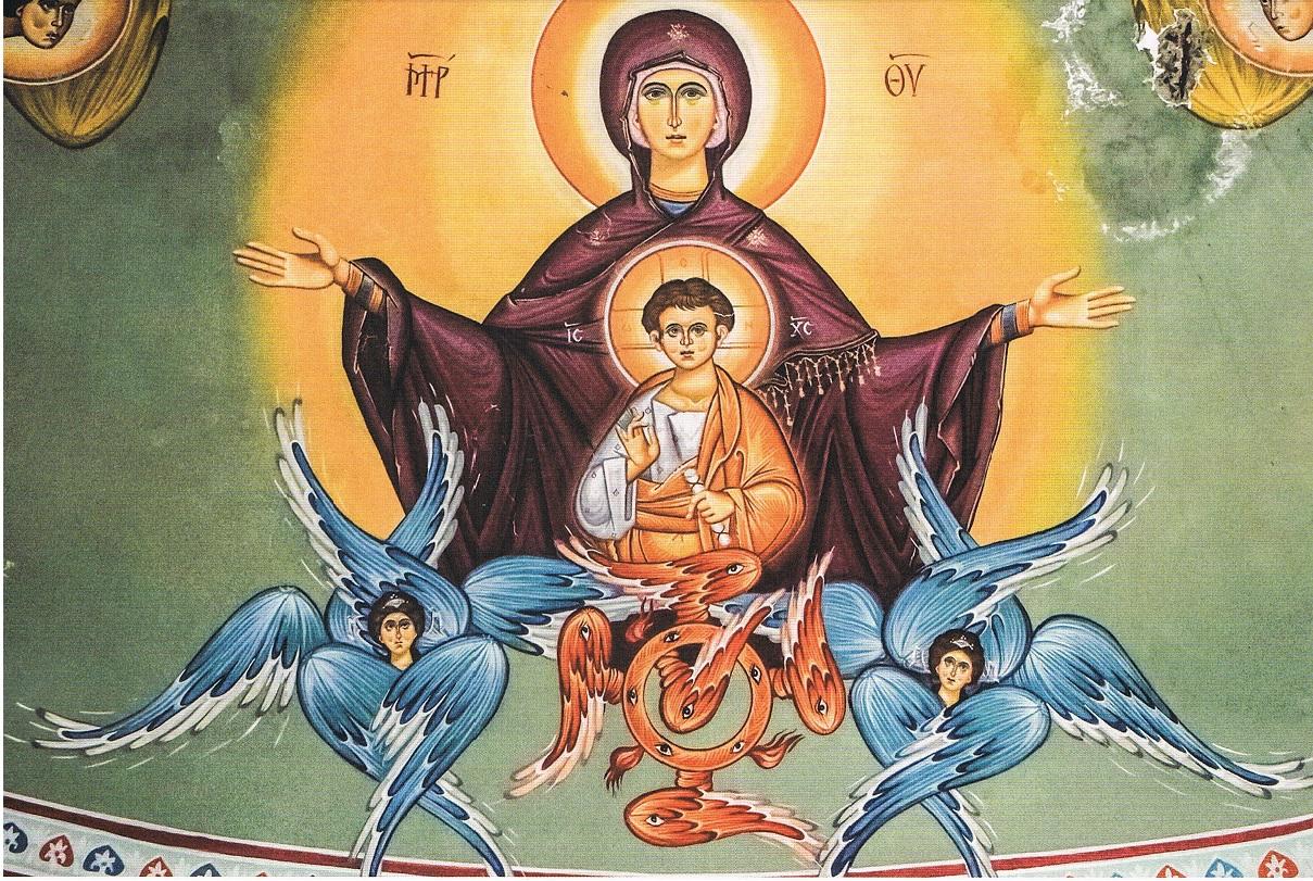 fresque de Platytera tôn ouranôn - la plus grande des cieux (Chypre)