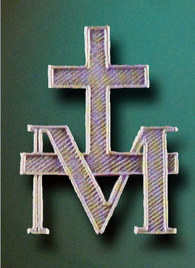 Le M que surmonte la croix