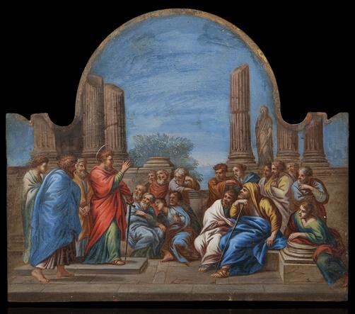 prédication de Saint Paul à Éphèse Louvre école française XVIIe siècle