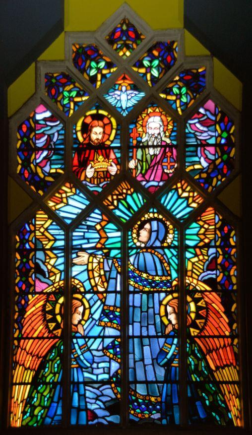 vitrail de Notre-Dame des Grâces église de Comines