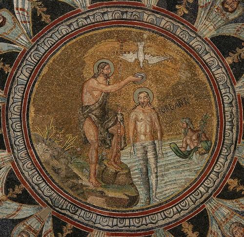 Le Baptême du Christ - Vème siècle - Mosaïque - Baptistère de la cathédrale, RAVENNE