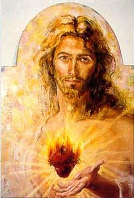 Cœur de Jésus brulant d'amour