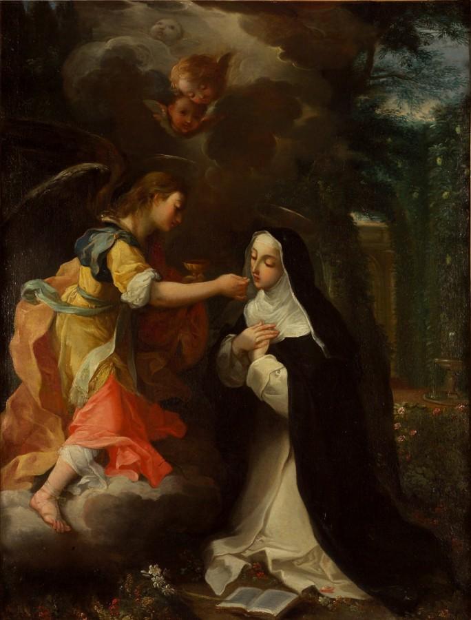 Francisco Ribalta - communion de sainte Catherine de Sienne XVIIe siècle musée du Hiéron Paray-le-Monial