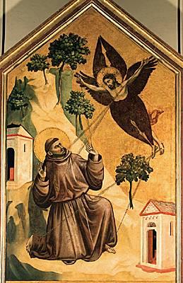 Giotto, Saint François d'Assise recevant les stigmates - Louvre