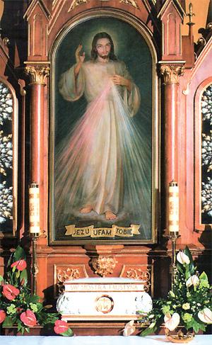 Le TABLEAU DE JÉSUS MISÉRICORDIEUX apparu à Sœur Faustine
