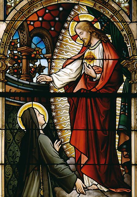 Le Sacré-Cœur et sainte Marguerite-Marie Alacoque