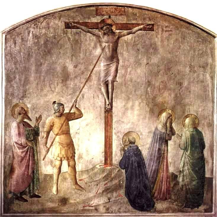 Saint Longin perçant le flanc du Christ de sa lance, Musée Saint Marc, Florence.