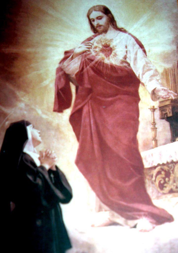 apparition du Sacré-Cœur à Sainte Marguerite-Marie Alacoque