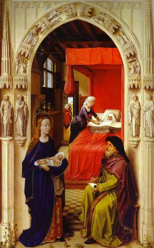 VAN-DER-WEYDEN Rogier 1400-1464 Retable-de-Saint-Jean-Baptiste-sa-naissance Staatliche-Museen Berlin
