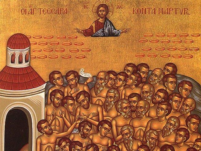 A Sébaste, le 10 mars 320, passion des Quarante Martyrs, soldats chrétiens.
