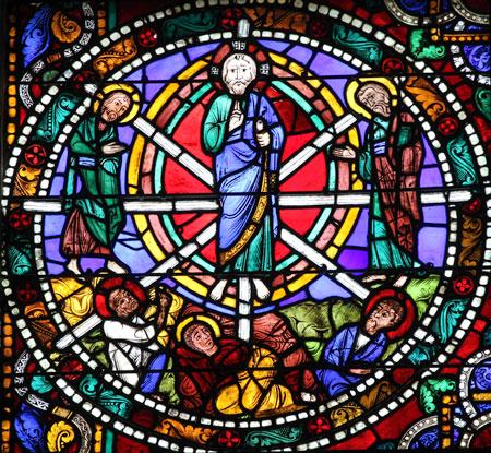 Transfiguration vitrail cathédrale de Chartres 28 France