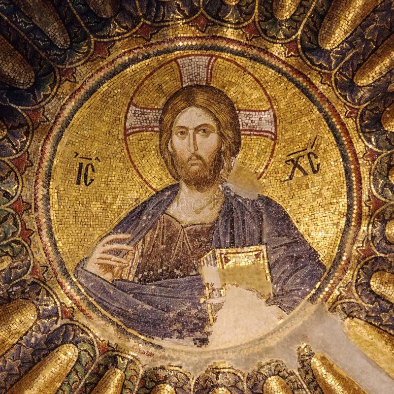 Christ Pantocrator église de Chora, Istanbul, Turquie, mosaïque