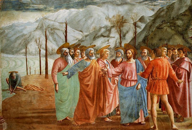 Envoi des Douze en mission, santa maria del carmine, Chapelle Brancacci, Florence, 1425