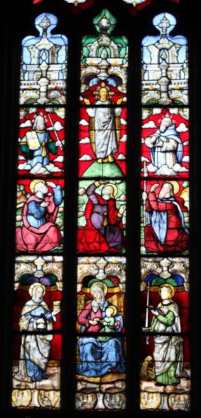 Transfiguration vitrail entier Plogonnec Bretagne