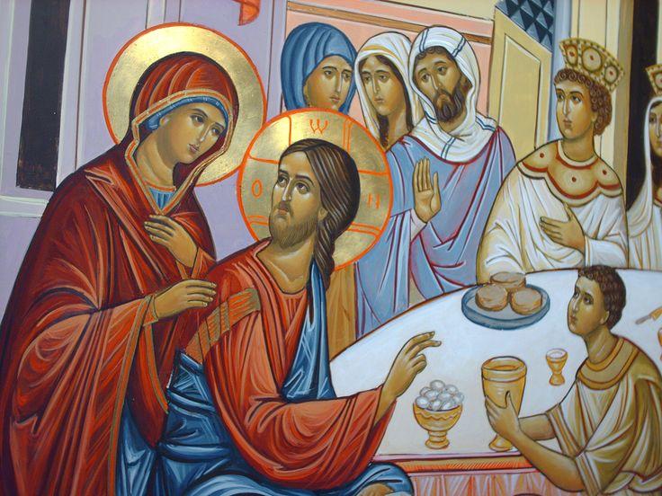 Marie et Jésus aux noces de Cana
