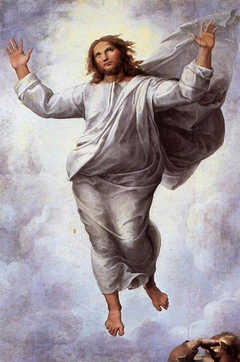 transfiguration du Christ Raphaël détail Pinacothèque du Vatican