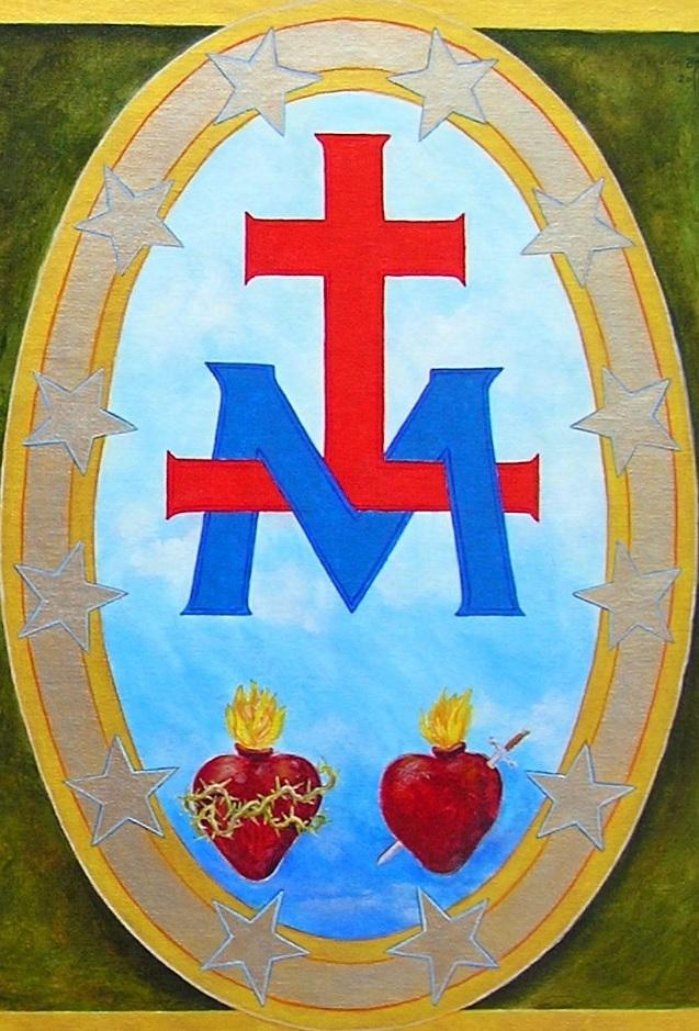 la Croix, le M et les deux Coeurs
