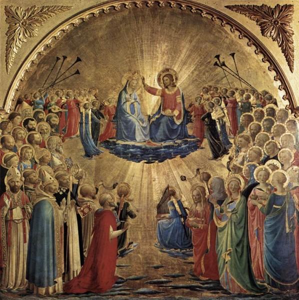 le couronnement de Marie au Ciel - Fra Angelico