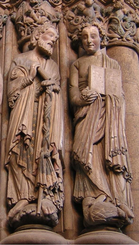 les apôtres Jacques et Jean dans la cathédrale de Compostelle