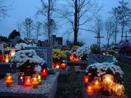 Toussaint dans un cimetière