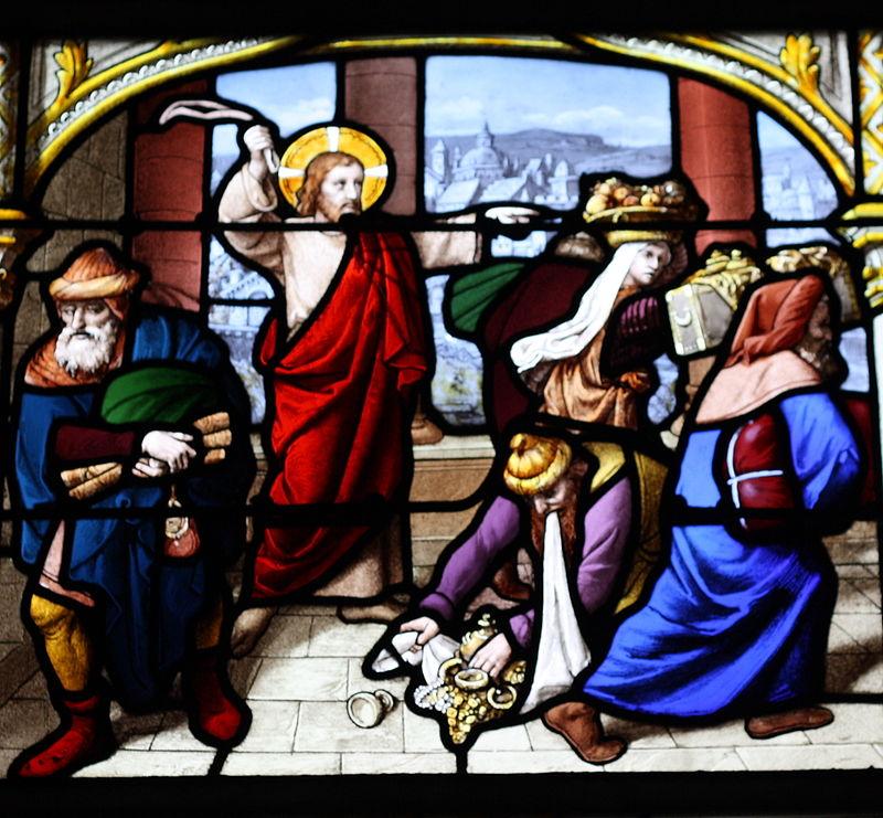 Jésus et les marchands du temple - église Saint-Aignan Chartres