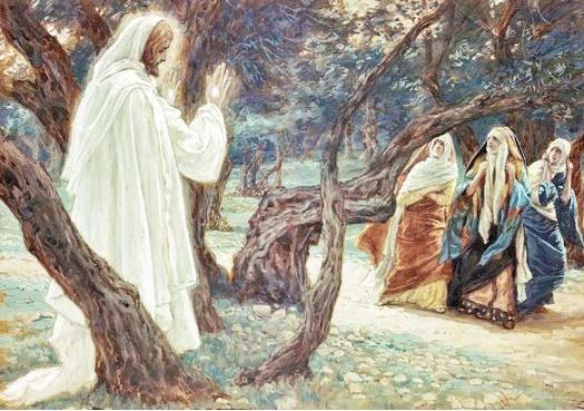 James Tissot - Le Christ apparaît aux saintes femmes : Allez annoncer à mes frères
