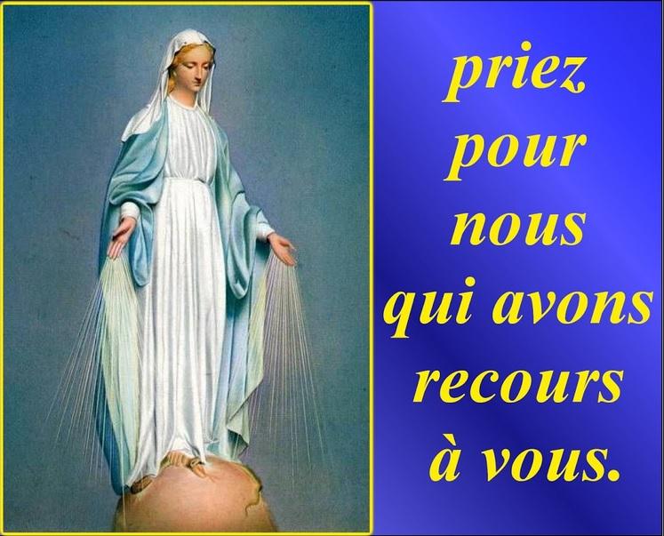 Sainte Marie, Priez pour nous qui avous recours à vous