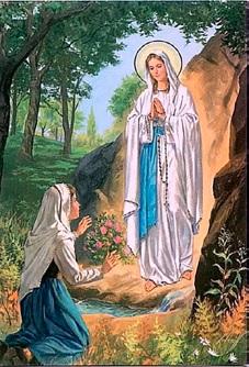 apparition de la Vierge Marie à Bernadette de Lourdes