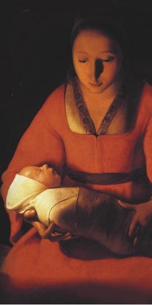 Georges de la Tour - le nouveau-né 1648  musée des beaux-arts de Rennes