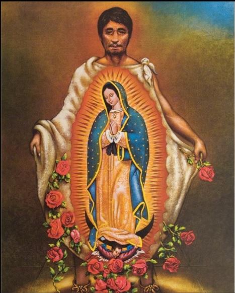 cape tilma de Diego avec l'image de Notre Dame de Guadalupe