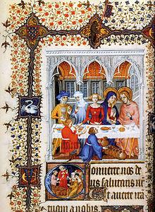 Grandes heures de Jean de Berry (1409 Les Noces de Cana