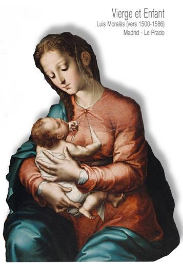 Vierge et Enfant Luis Morales (vers 1500-1686) Madrid Le Prado