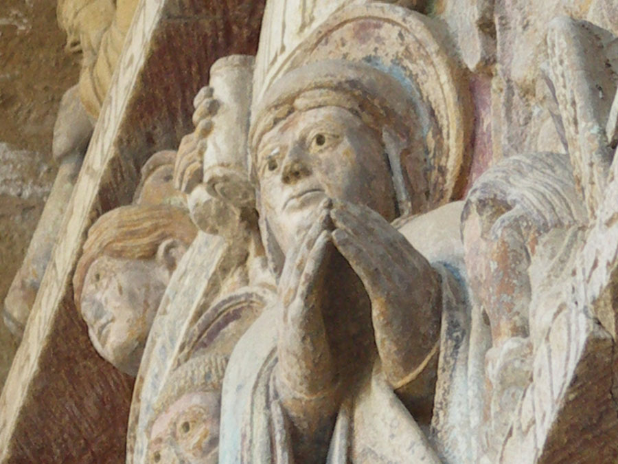 Intercession de Marie - tympan de Conques