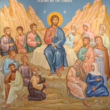 Jésus au mont des béatitudes