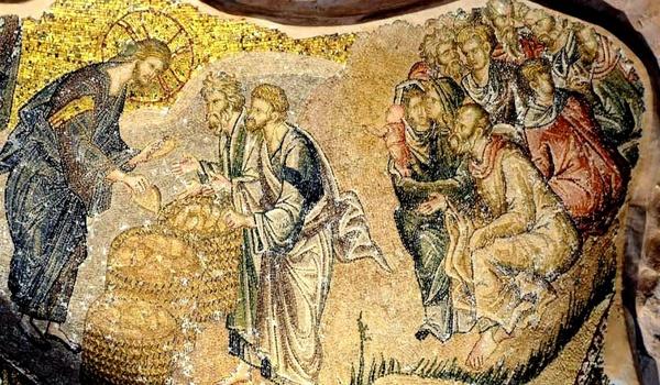 Saint Sauveur in Chora, Istanbul, mosaïque de la multiplication des pains