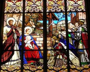 vitrail de la Nativité - cathédrale de Tours